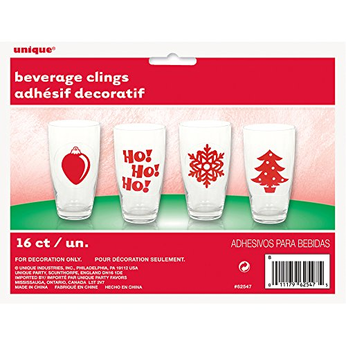 Christmas Beverage Cling Drink Markers