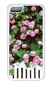 iPhone 5c case, Cute Pink Roses iPhone 5c Cover, iPhone 5c Cases, Soft Whtie iPhone 5c Covers