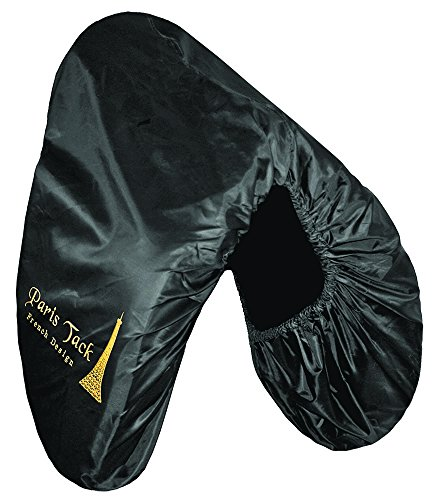 Paris Premium Embroidered Nylon Dressage English Saddle Cover - Protects Saddles from Dust, Debris, and Damage - Fits Most Sizes and Styles of English Saddles - Multiple Colors Available