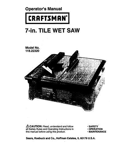 craftsman wet saw - 5