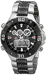 U.S. Polo Assn. Sport Men's US8208EXL Analog-Digital Silver-Tone and Gunmetal Watch
