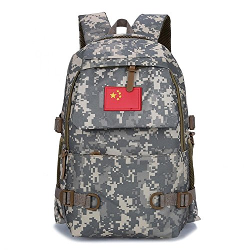 Aoligei Camouflage épaules sac hommes / femmes mode sac à dos voyage plein air loisirs sac étudiant sac de sport A