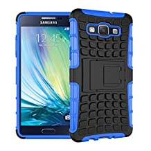 MOONCASE Galaxy A5 Case Detachable 2 in 1 Hybrid Armor Design Shockproof Tough Rugged Dual-Layer Case Cover with Built-in Kickstand for Samsung Galaxy A5 Blue