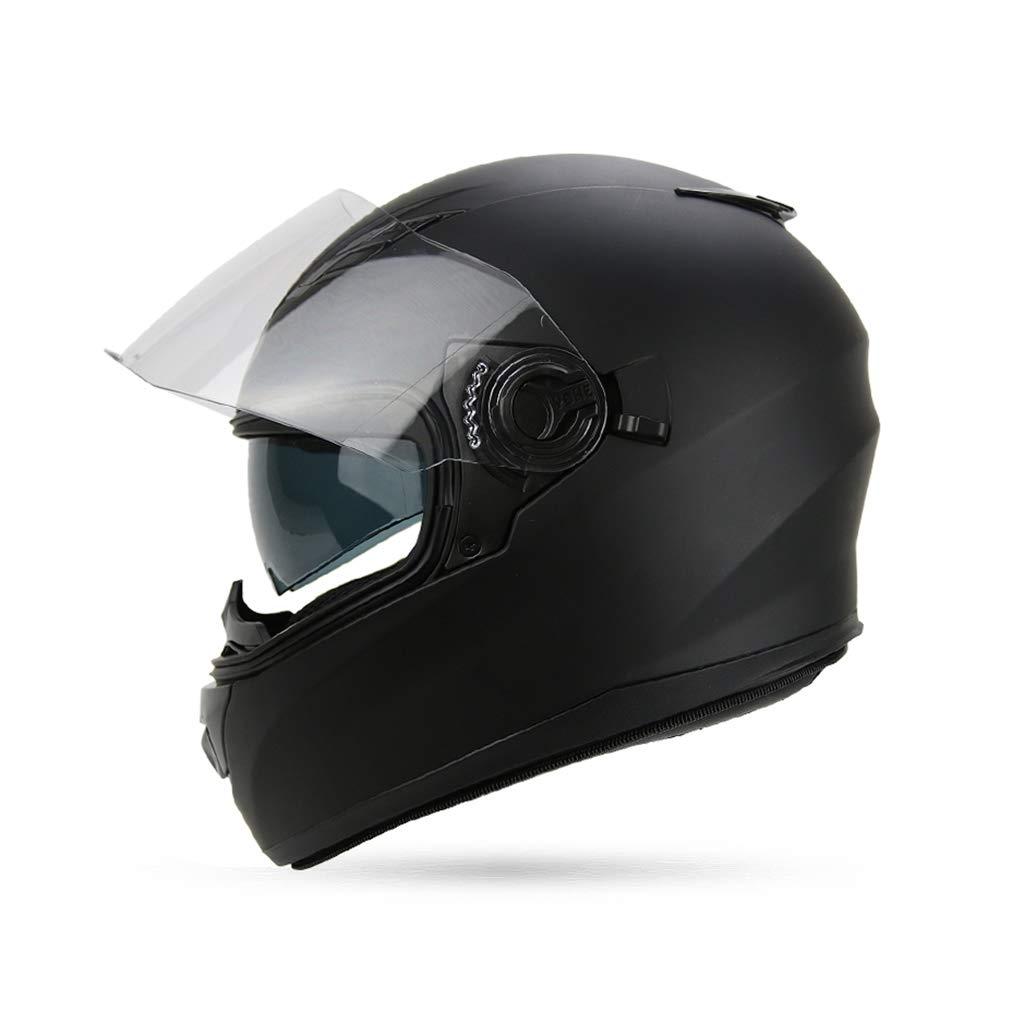 オートバイヘルメット、冬用ダブルレンズフルヘルメットメンズ女性全般サイクリング用安全キャップ電気自動車、取り外し可能なネックカラーM ヘルメット   B07QDHTLBW