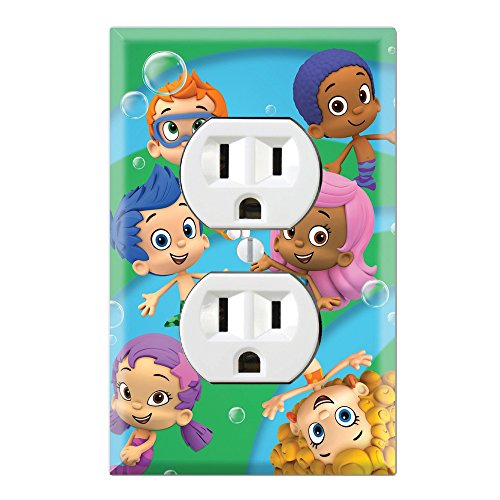 Duplex Wall Outlet Plate Decor Wallplate - Bubble Guppies