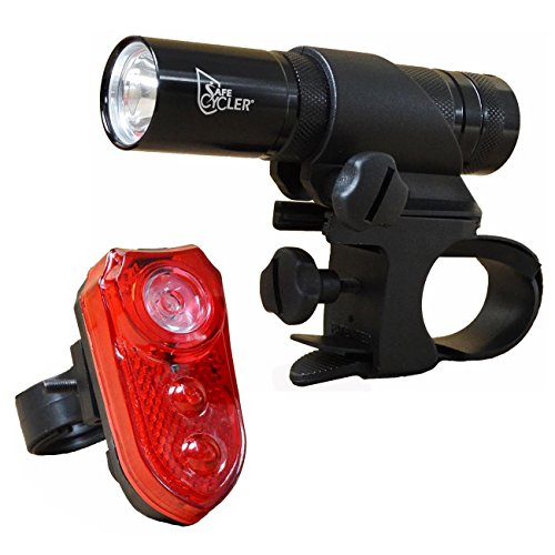 SafeCycler LED Bike Lights for Your Safety, Super Bight Bike Light Set, Patented Front Mount Fits Any Handlebar, Ride Safer Today