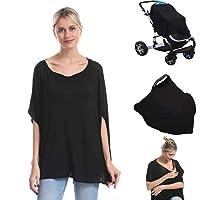 Genovega Nursing Breastfeeding Cover Car Seat Canopy for Infant Baby, Soft Bamboo...