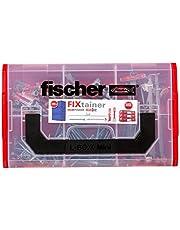 Fischer 534076 FIXtainer - De Festmacher-Box, pluggenset, spreidpluggen SX, gipsplaten pluggen, metaal GKM, Fast & Fix, 212 delen