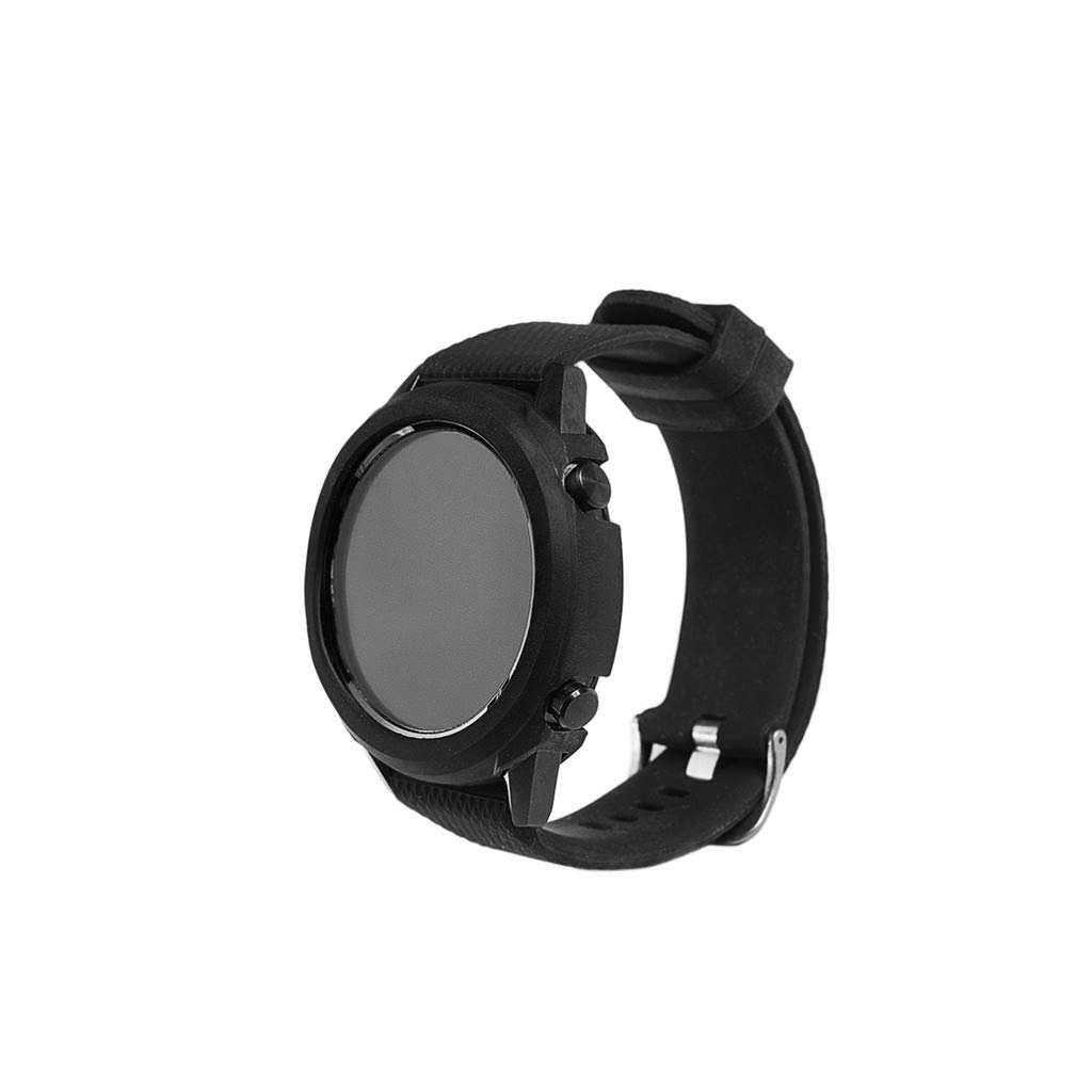 Pausseo TPU Durable Watch Cover Compatible for Huawei Watch GT Men Women Soft Ultra-Slim Silicone Protection Sports Replacement Comfortable Watch Case (Black)