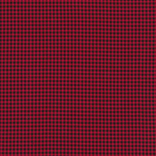 Timeless Treasures Tiny Red, Black, Gingham Check, Let It Snow, C7065-RED, Holiday, Accent Fabric, by The Yard