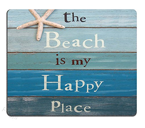 The Beach is My Happy Place Mouse Pad Custom Personalized Design Non-Slip Rubber Mouse pad 9.5 X7.9 inches