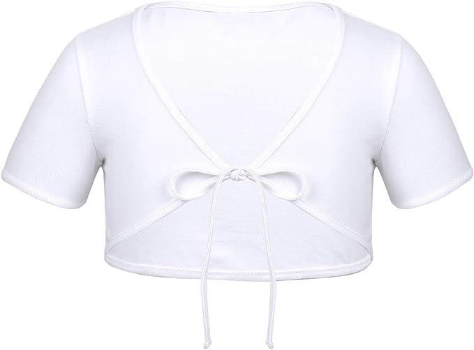 Girls Classic Shrug Bolero Cropped Top Cardigan Wrap Ballet Dance Dress Cover