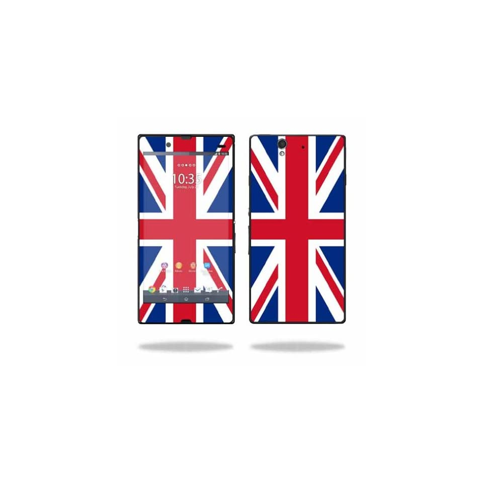 MightySkins Protective Vinyl Skin Decal Cover for Sony Xperia Z 4G LTE T Mobile Sticker Skins British Pride Cell Phones & Accessories