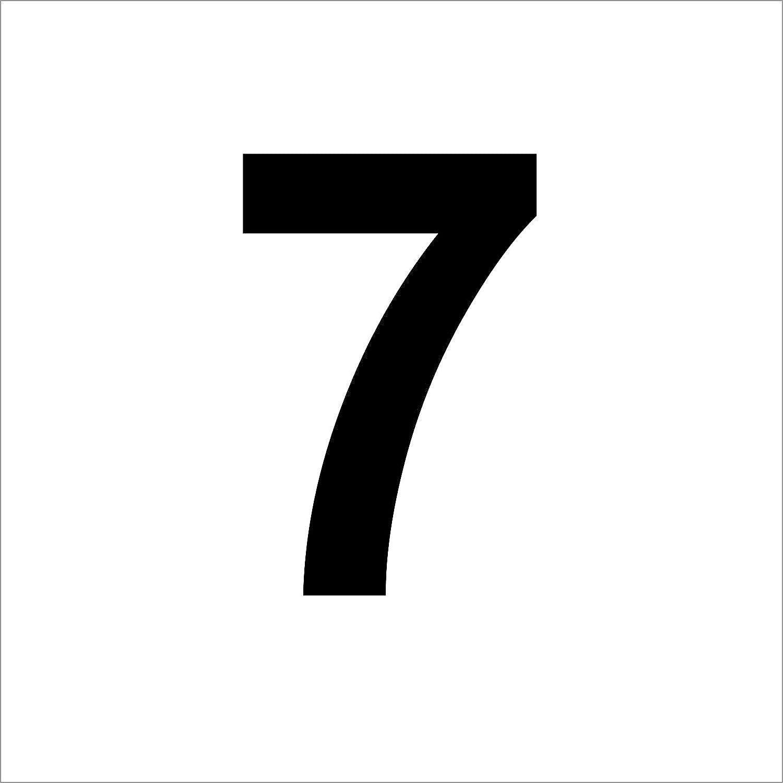 Zahlen Uahlenaufkleber 20 cm hoch Hausnummer schwarz ohne Hintergrund aus Hochleistungsfolie wetterfeste Aufkleber M/ülltonne,M/ülltonnen Briefkasten 3 mal Nummer 37  hochwertige Zahlenaufkleber Nummer