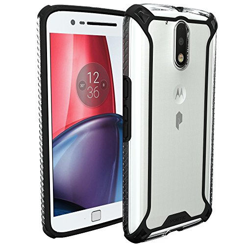 Poetic Moto G4/Moto G4 Plus Case - Affinity Series Premium Thin/No Bulk/Clear/Dual Material Protective Bumper Case for Motorola Moto G4/Moto G4 Plus (2016) - Black/Clear