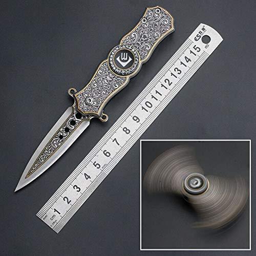 ANLICAR Cuchillo Exterior Cuchillo Plegable Afilado CM78 Cuchillo Superior Giratorio Cuchillo de Regalo Tour de Camping Kit de Supervivencia