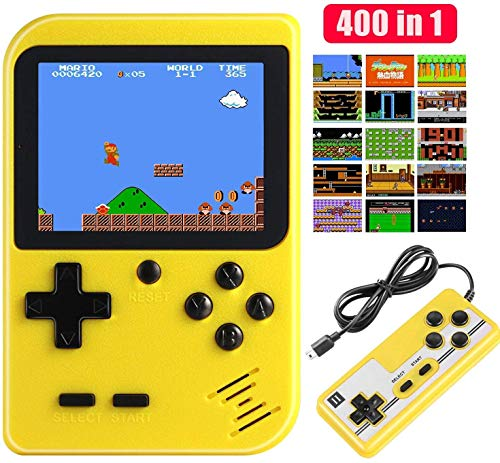 Etpark Handheld Game Console, Retro Mini Game Machine with 400 Classical FC Games and 2.8-Inch Screen, Support Play on TV and Two Players, 800mAh Rechargeable Battery, Present for Kids and Adults from Etpark