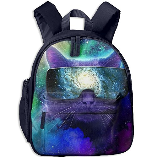 Space Cat Kids School Bag For 3-6 Years Old Children ShoulderBackpack Navy For Boys And - Dance Sunglasses Bill