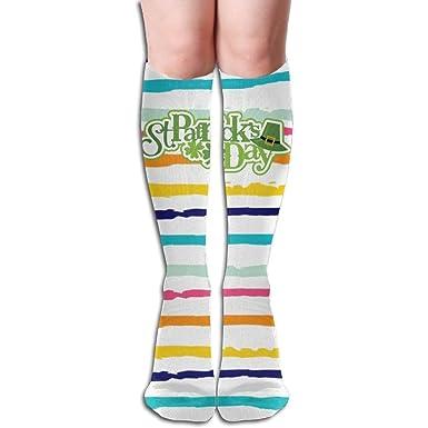 Long 50cm) Compression Socks Saint Patrick Day Girl Full Socks Long Socks Knee High Socks