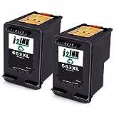 J2INK 2 Black High Yield Remanufactured Ink Cartridge for 662XL CZ105AL Use for Deskjet Printer