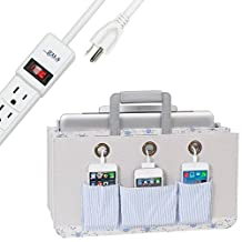 Great Useful Stuff Portable Tech Station with 6-Outlet Power Strip: Cottage Collection, Charge and Carry All Your Mobile Devices From Room to Room