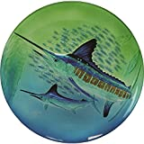 River's Edge Guy Harvey Marlin Glass Platter, 18