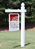 Vinyl PVC Real Estate Sign Post - White (Two Pack)