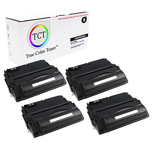 TCT Premium Compatible Toner Cartridge Replacement for HP 38A Q1338A Black Works with HP Laserjet 4200 4200N 4200TN 4200DTN 4200DTNS 4200DTNSL Printers (10,000 Pages) - 4 Pack