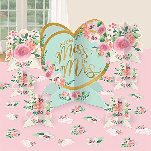 Amscan Mint to Be Wedding Table Decorating Kit -