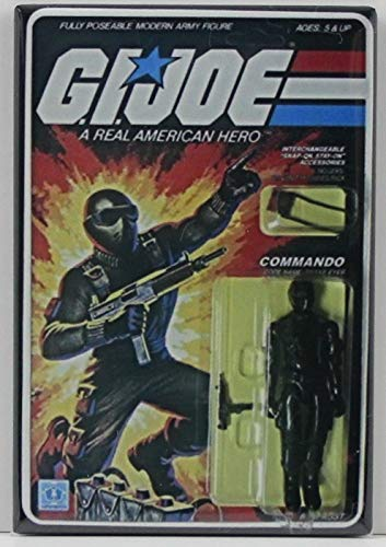 Action Magnet - G. I. Joe Card Art Snake Eyes/Commando Refrigerator Magnet. NOT AN ACTION FIGURE OR TOY - THIS IS A REFRIGERATOR MAGNET