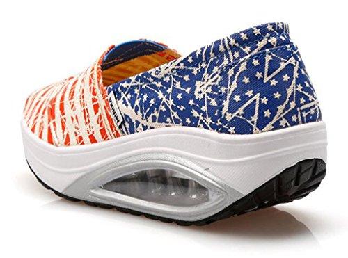 tacón GFONE de naranja mujer Zapatos 11En6Uxf