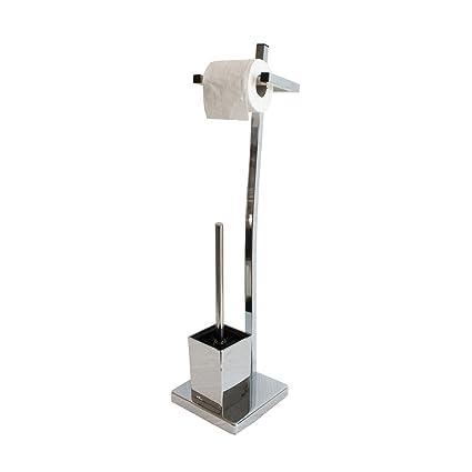 Carpemodo England WC cepillo con portarrollos papel higiénico forma base/Soporte de portarrollos y escobillero