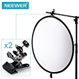 Neewer® 2 Pack Multi-Functional Black Clamp Clip Holder with U-Clamp for Photography Studio Shooting Light Stand Tripod Boom Arm, Background Support