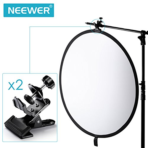 Neewer® 2 Pack Multi-Functional Black Clamp Clip Holder with U-Clamp for Photography Studio Shooting Light Stand Tripod Boom Arm, Background Support by Neewer