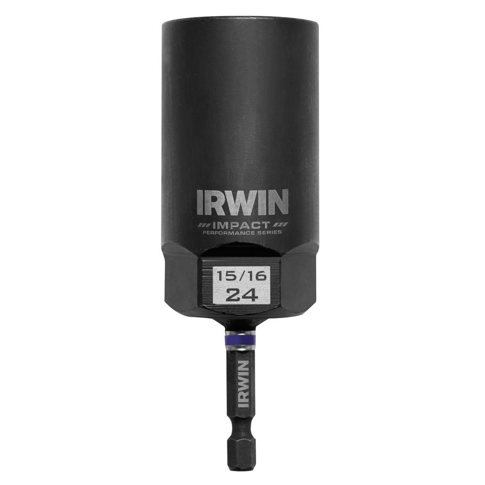 Bolt-Grip 1859133 Irwin Tools Impact Performance Series Bolt Grip Deep Well Bolt Extractor with 1/2-Inch Square Drive with 1/4-Inch Hex Adapter