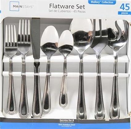 45pc flatware Set has a classic design