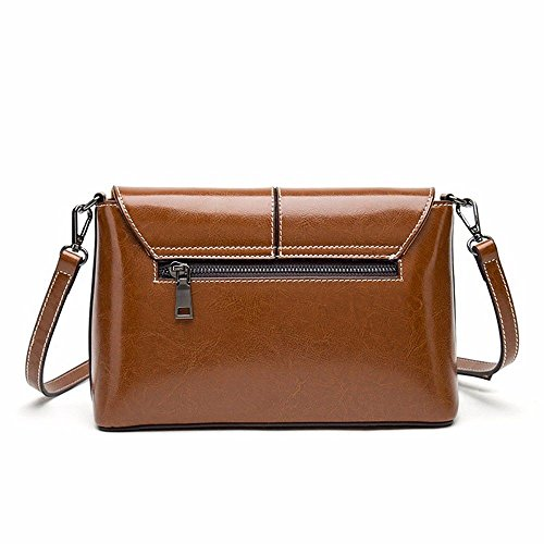 New Oil Shoulder 2018 Wax Small Diagonal Bag Bag Ladies Female Square 5Zdqdgw