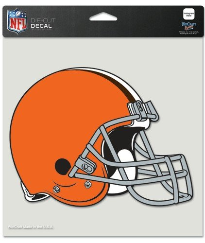 WinCraft NFL Cleveland Browns Die-Cut Color Decal, 8″x8″, Team Color