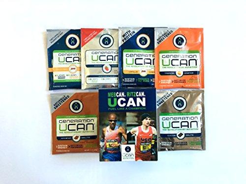 Generation UCAN Endurance Multi-Flavor Pack, UCAN SuperStarch ® Energy Drink Mix & Protein Drink Mix, 6 Count