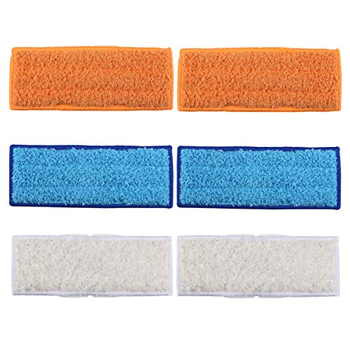 Aunifun 6 Pack Washable Mopping Pads for iRobot Braava Jet 240 241 Included (2 pcs Wet Pads, 2 pcs Dry Pads, 2 pcs Damp Pads) (Pad Dry)