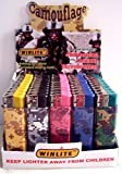 Winlite Camouflage 50 Count Refillable Lighters Display
