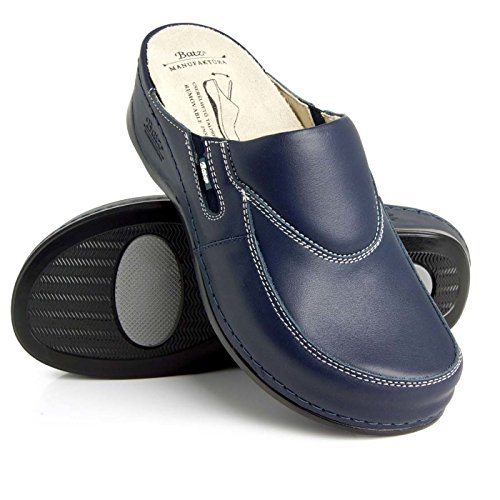 Batz Azul Cuero Mujer Zapatillas Zuecos De Fc10 Para Zapatos nq1pwZng