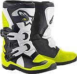 Alpinestars Youth Tech 3S Kids Boots-Black/White/Yellow Flo-K11