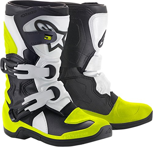 Alpinestars Youth Tech 3S Kids Boots-Black/White/Yellow Flo-K11 by Alpinestars