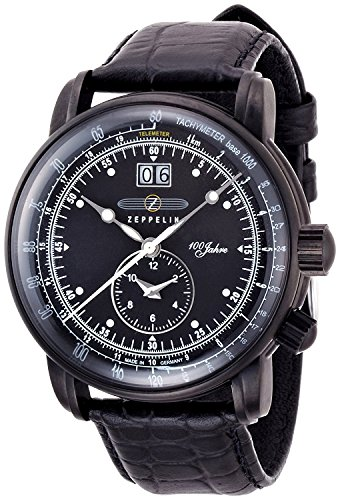 ZEPPELIN watch Special Edition 100years Zeppelin black 76382 Men's [regular imported goods]