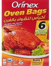 Orinex Oven Bags 25/38cm,Medium, 6Bgs, Clear