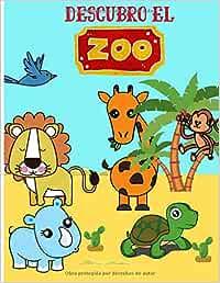 Descubro el zoo: Libro para colorear para niños de 3 a 7