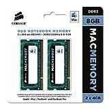 Corsair Apple Certified 8GB (2x4GB) DDR3 1333 MHz PC3 10666 Laptop Memory (CMSA8GX3M2A1333C9)