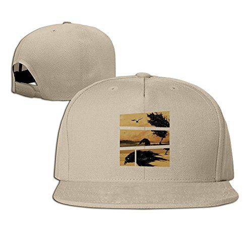 MaNeg Never-nevermore Unisex Fashion Cool Adjustable Snapback Baseball Cap Hat One Size Natural
