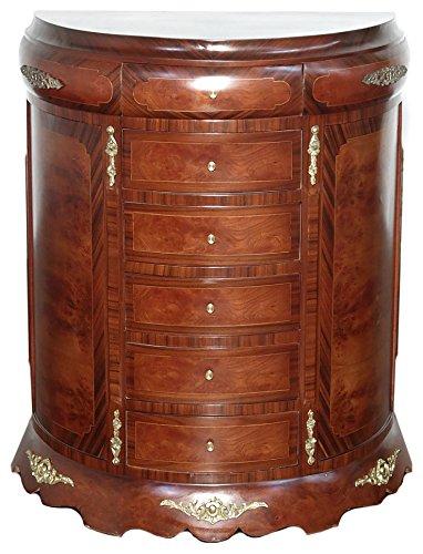 Brass Mahogany Dresser - 6